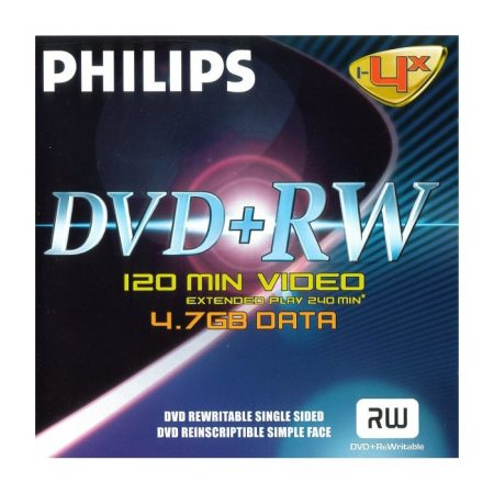 Philips DVD-RW 4, 7Gb 4x (1-es címke)