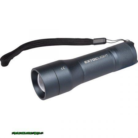 Extol LED lámpa, CREE XPE, 250Lm, 3 funkció; (teljes/harmad fényerő+ villogás) ALU ház, elem nélkül, IP54 43153
