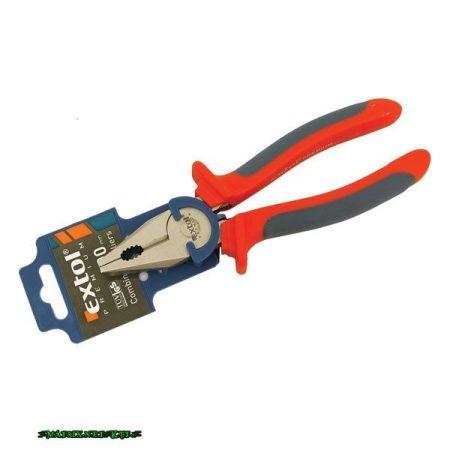EXTOL kombinált fogó, 200mm, duál narancs/kék, TPR nyél, akasztós szerszámtartó 8813114