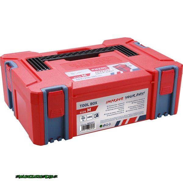 EXTOL tároló doboz, ABS, M méret, 443×310×151mm, falvastagság 2,5mm, teherbírás max 100kg, tömeg: 1820g 8856071